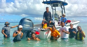 CMI students in the Tropical Marine Ecology class.