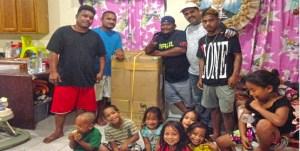 Bruce Lanwi's family in Delap get Solar MRA Greenbox system. Photo: Hilary Hosia.
