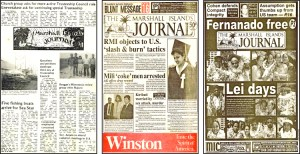Front pages from 1981, 1993 and 2004