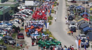 The 39th anniversary of Constitution Day Tuesday brought out hundreds of residents for a parade to the capital building area, where the official ceremony was held. Numerous sports events highlighted the day. Photo: Hilary Hosia.