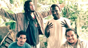 """Majuro band Diversity Music won first place in the annual eight-nation PNA Tuna Day music and art contest with their song """"Our Waters,"""" good for a $3,000 prize. Band members, from left: Fuisega Sualau, Chris Uesi, Alex Aruhane and Kris Person."""