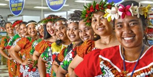 Employees at Majuro Pacific Basin Payless Supermarket decked themselves out in island-style dress to celebrate Culture Day last week.