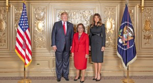 President Hilda Heine was in New York last week for the UN General Assembly and joined US President Donald Trump and First Lady Melania Trump. This week she challenged the Pacific to rid the region of illegal fishing by 2023. Photo: White House.