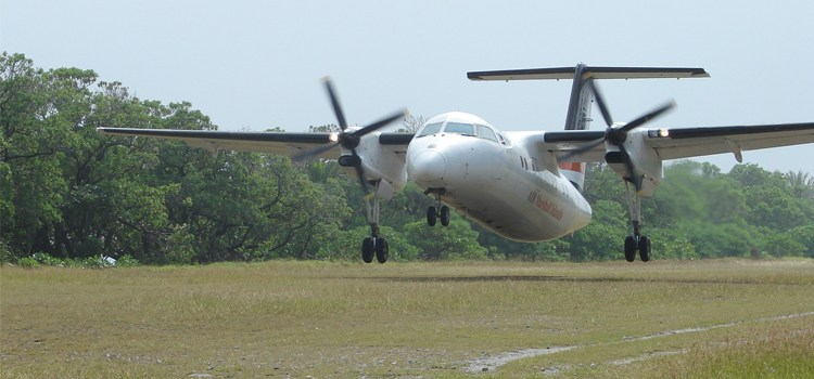 Dash-8 waits on inspection