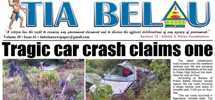 Robby dies in Palau crash