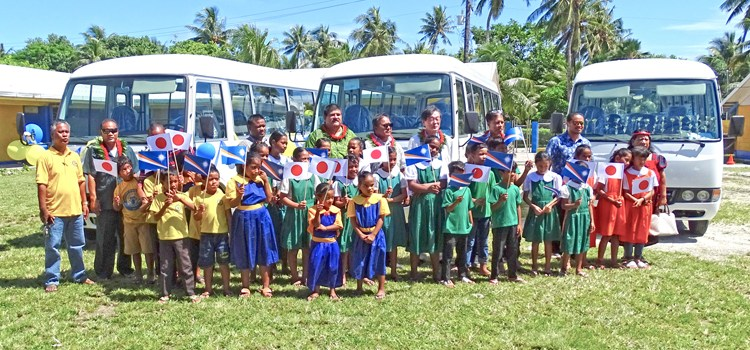 Japan-funded buses for Majuro