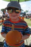 Marshall picked the perfect pumpkin.