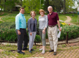 Tony Stancato, Fountain Committee • Anne Walters, Fountain Committee Chair • Pat Loew, Primary Benefactor • Jeff Beitel, FMSP President