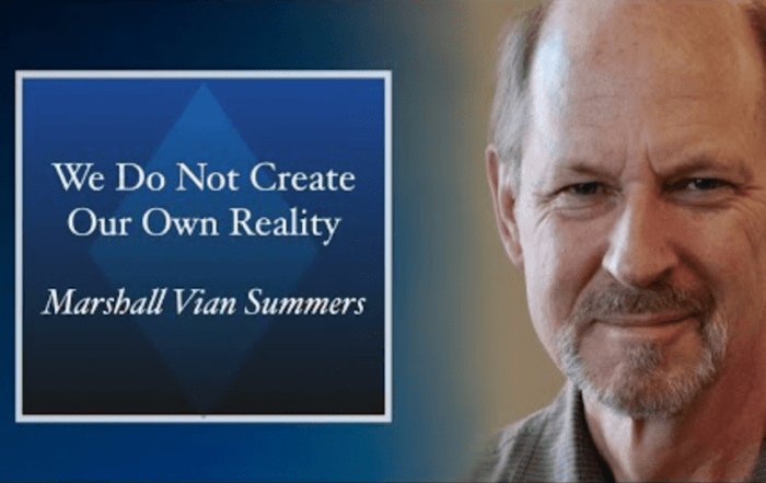 We do not create our own reality