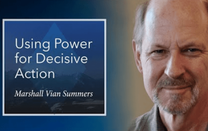 Using the greater power for decisive action