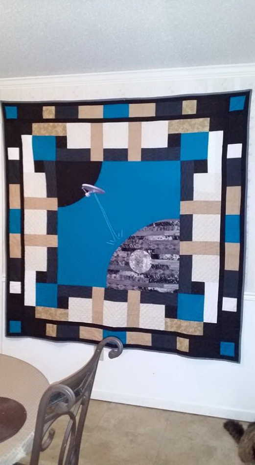 Star Trek / Star Wars Quilt