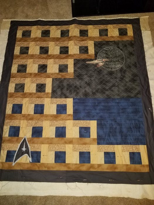 Star Trek Quilt for Dad