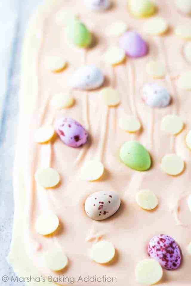White Chocolate Easter Bark | Marsha's Baking Addiction
