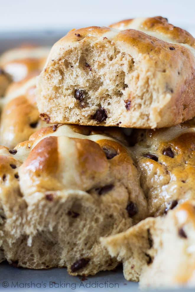 Chocolate and Orange Hot Cross Buns | Marsha's Baking Addiction