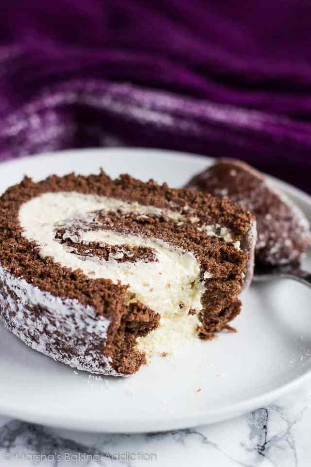 Chocolate Swiss Roll | Marsha's Baking Addiction @marshasbakeblog
