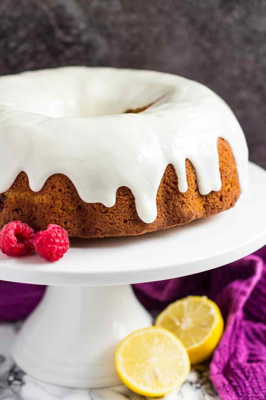 Lemon Raspberry Bundt Cake   marshasbakingaddiction.com @marshasbakeblog