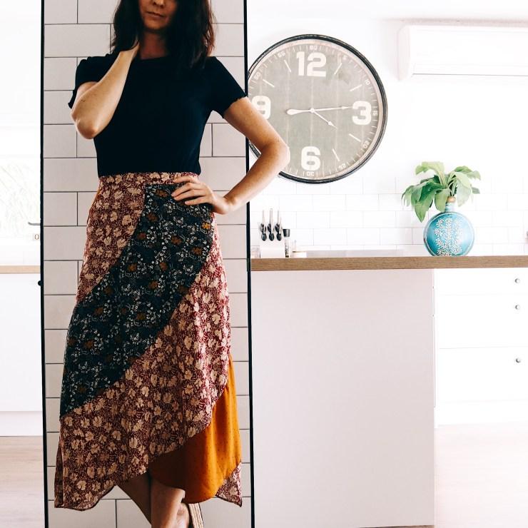 Print clashing skirt