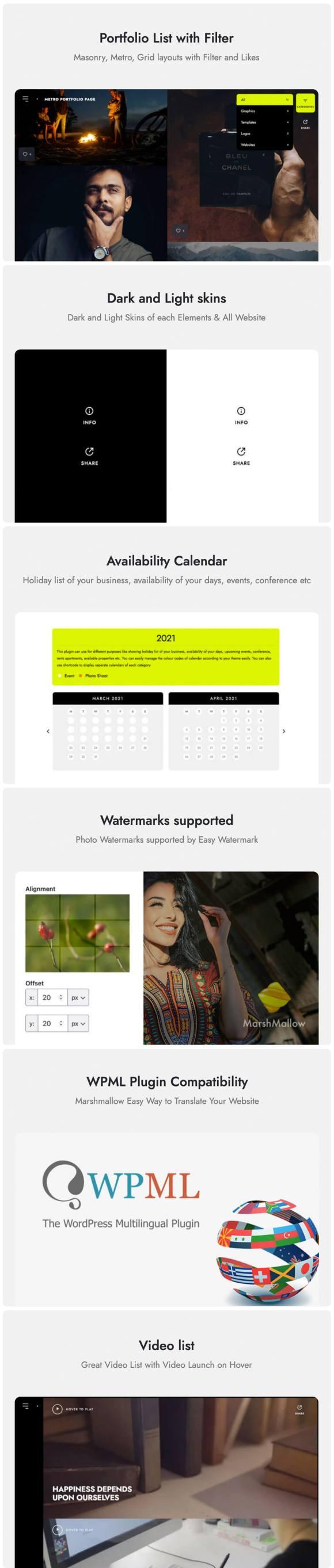 Marshmallow - Photographer WordPress Theme - 5