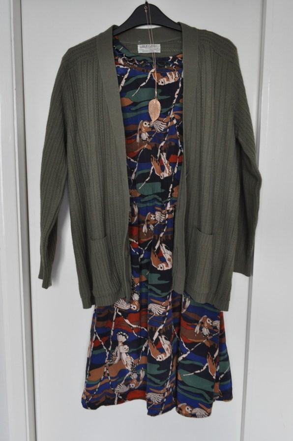 Cardigan - Jaeger; dress - Louche @ JOY