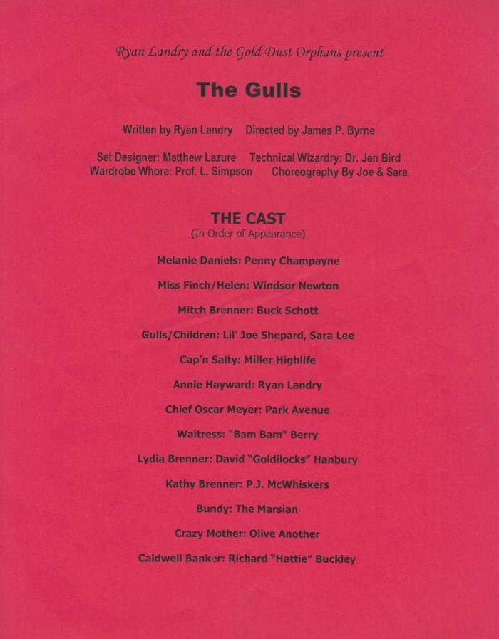 The Gulls, Program, 2003