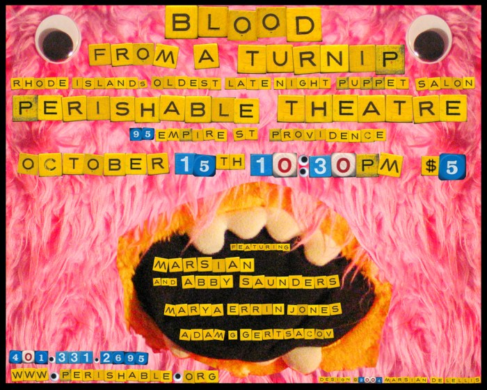 Blood from a Turnip, October 15, 2004, design: Marsian De Lellis