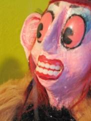 """Seated Figure"" (detail), Puppet Trash, 2004, AS220, Providence, photo: Marsian De Lellis"