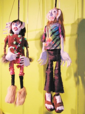 """Linda Carvel"", ""Terry (Linda's Dealer)"", Puppet Trash, 2004, AS220, Providence, photo: Marsian De Lellis"