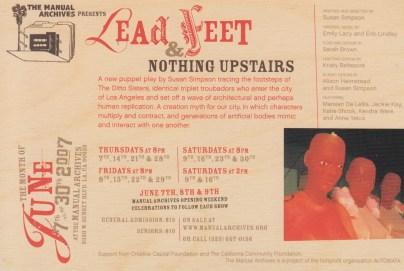 Lead Feet, 2007, Susan Simpson