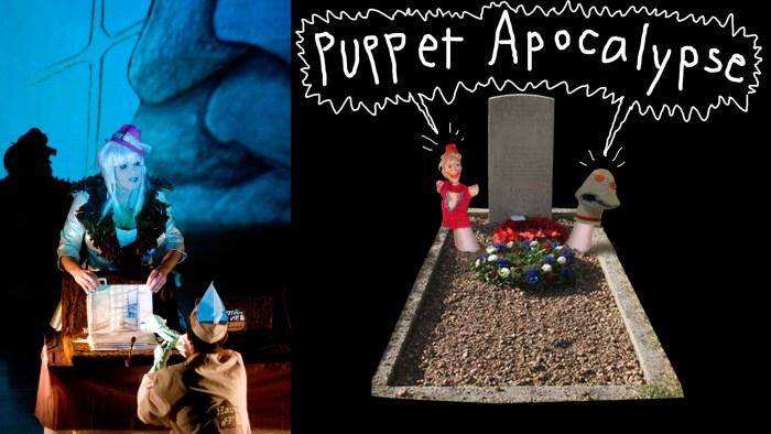 L: Photo: K. Basta, R: Puppet Apocalypse poster