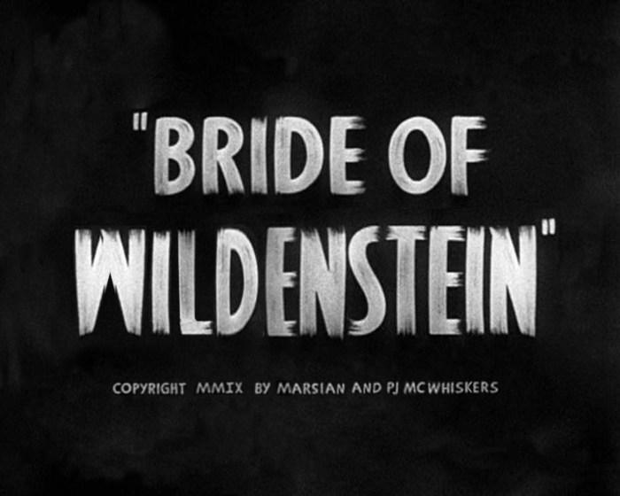 Bride of Wildenstein - The Musical, 2008, poster: Marsian De Lellis