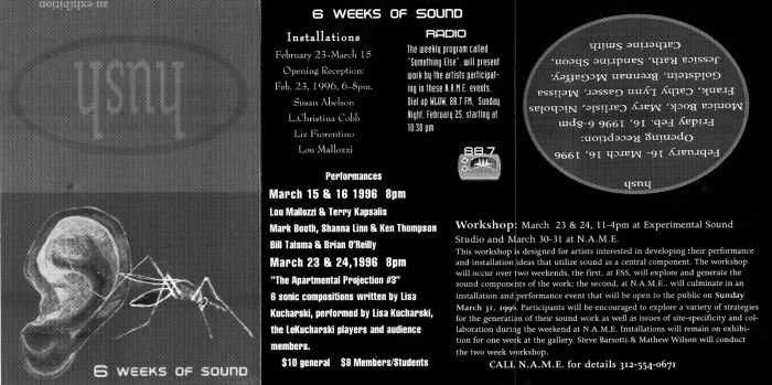 1996-Hush-ed-inv-16x7.973-100dpi Hush N.A.M.E. Gallery Chicago 1996 Six Weeks of Sound