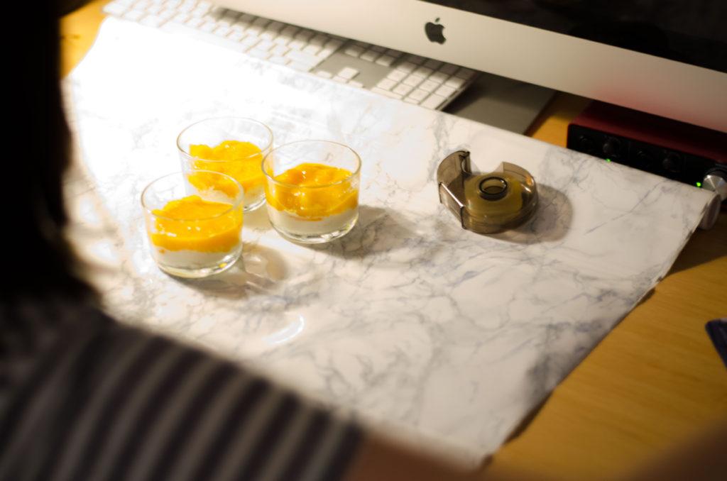 Kokos-Joghurt-Creme mit Mango
