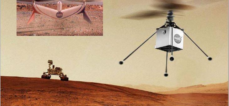 NASA, gezegenin kuşbakışı görünümünü elde etmek için Mars'a bir helikopter gönderiyor