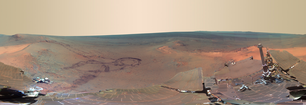 NASA panoramic Mars photo