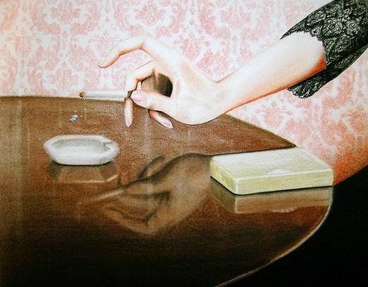 Ash (2009) Dibujo, lápiz y pastel sobre papel. Medidas 28 x 30 cm. Film: How to Steal a Million (1966) Dir. William Wyler
