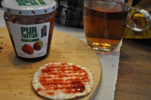 De Pur Natur confituur uit de #foodiebox komt ook goed tot z'n recht op de Matzes.