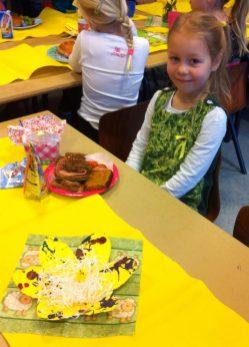Paasontbijtje in de klas, gezellig hoor!
