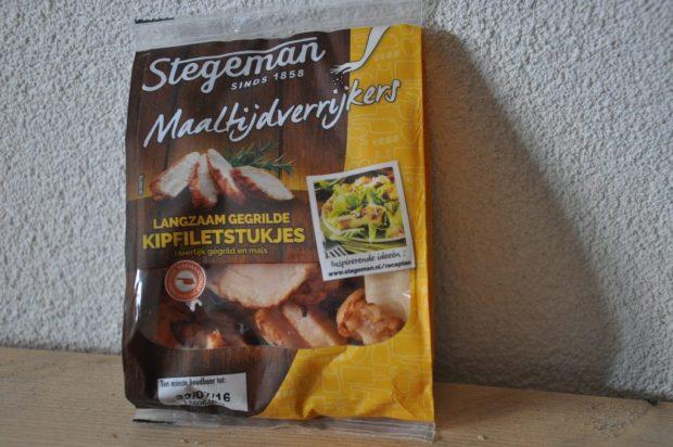 Kipfiletstukjes als maaltijdverrijker van Stegeman.