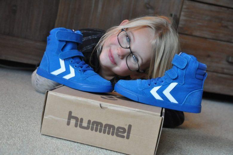 hummel blauwe sneakers