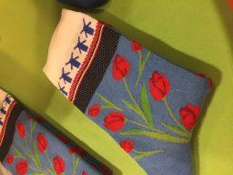 sokken met tulp