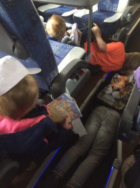 bukken in de bus