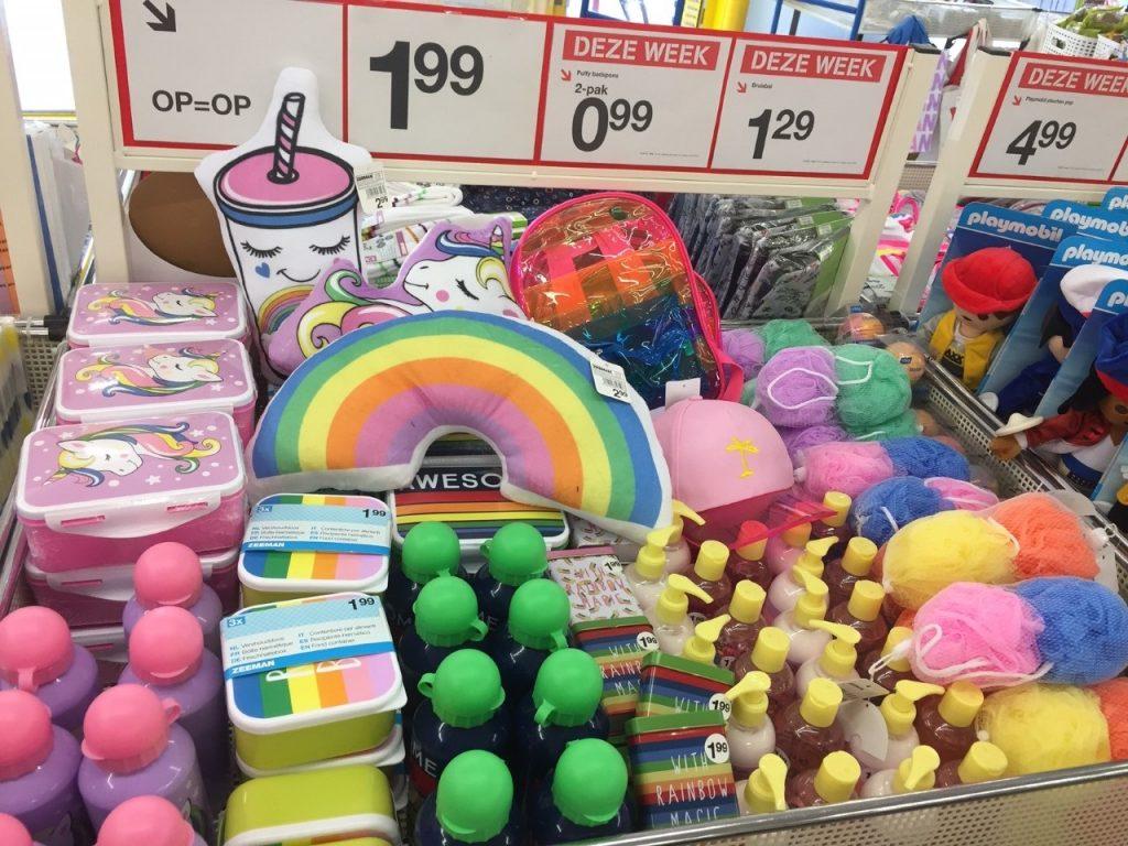 zeeman shoplog zomer regenboog