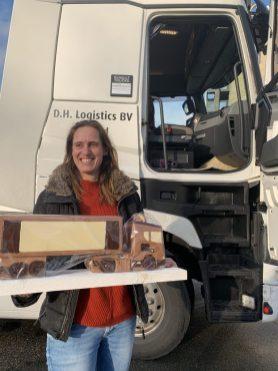 vrachtwagen van chocola