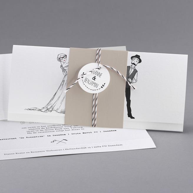 cottonbird trouwkaart