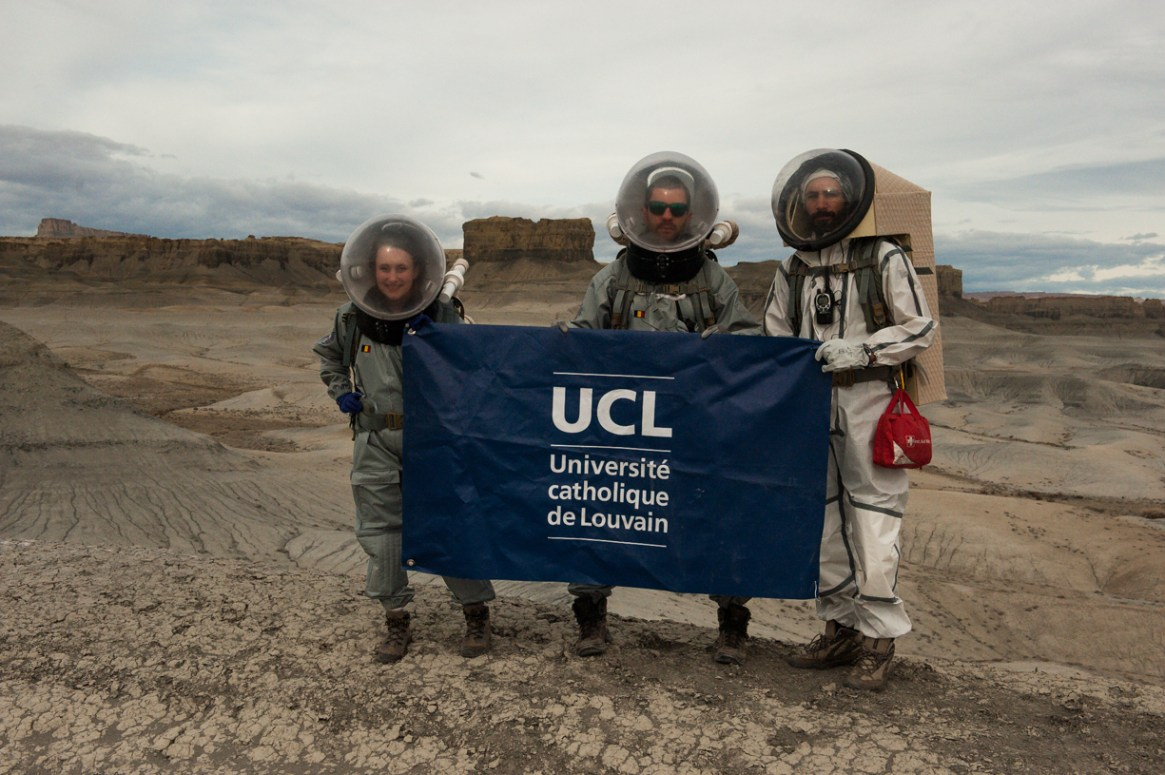 Our crew is proud to flight the flag of their university.