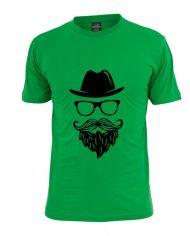 Hat Mustachi T-Shirts for Men – Black