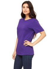 Purple Cotton Plain T-Shirt for Women1