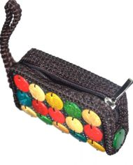 Brown Jute Clutch Bag For Women 1