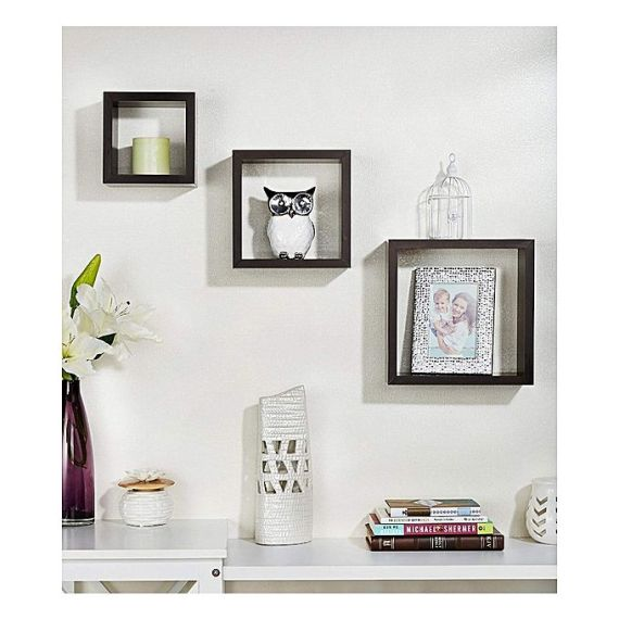 square shaped wall shelf 7