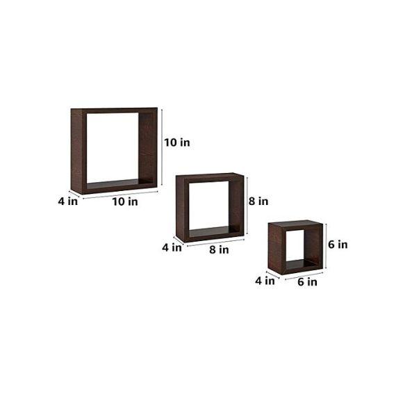 square shaped wall shelf